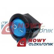 Przełącznik podśw.okr.230V nieb. niebieski AC