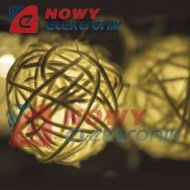 Lampki ozdobne WOOD BALL 3M WW  16LED IP20 choinkowe christmas