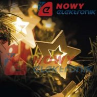 Lampki ozdobne WOOD STAR 1M 10L WW LED IP20 choinkowe christmas