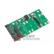 Adapter HDD MSATA 2.5/SATA 2.5 Adapter 15+7PIN