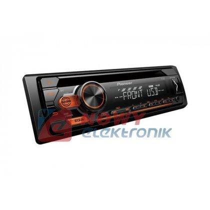 Radio samoch.PIONEERDEH-S110UBA CD+USB AMBER pomarańczowe