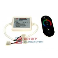 Sterownik LED RGB 18A 6k dotyk. 6key czarny do Modułów(taśm)led