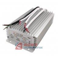 Zasilacz ZI LED 12V/12.5A IP67 A A12-1252, Impulsowy metalowa obudowa