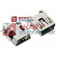 Gniazdo mini USB-B proste SMD   do druku ORYGINAŁ MOLEX