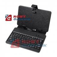 """Etui na Tablet 7"""" z kl. mini USB z klawiaturą uniwersalne"""