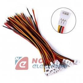 Złącze micro JST męskie 3pin z p przew. 10cm MCX r-1.25mm