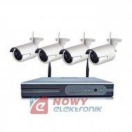 Zestaw monitoringu bezprzew   2M 4-kanał. WI-FI kamery białe