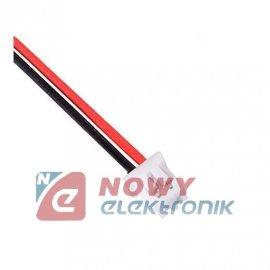 Złącze micro JST żeńskie 2pin z przewodem 12cm MCX r-1.25mm