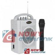 Mikrofon ze wzmacn.zestawSH130 przenośny AZUSA