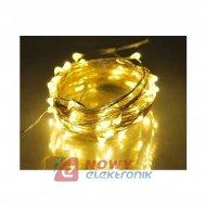Lampki choin.100LED 10m drut SMD 230V ciepły biały