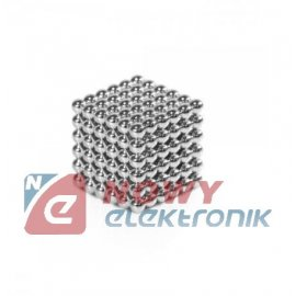 Neocube 5mm na sztuki srebne magnes kulki magnetyczne klocki