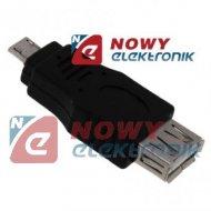 Przejście micro USB/USB wt/gn adapter HOST OTG micro
