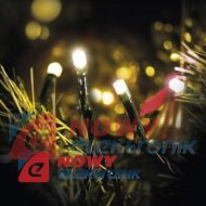 Lampki ozdobne CHRISTMAS 5M WW 100LED IP20 choinkowe christmas