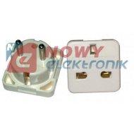 Adaptor podr. AC wt.PL-gn.UK USA uniw. biały