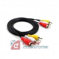 Kabel 3*RCA 1.5m