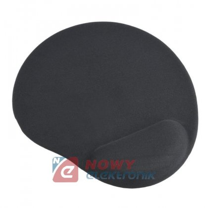 Podkładka pod Mysz z poduszką żelowa czarna