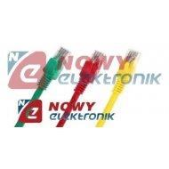 Kabel LAN kat.5e UTP 2m kolor czerw.,nieb.,białe , żółte