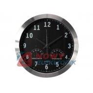 Zegar ścienny DCF 35,5cm alum. z termometrem, higrom. VELLEMAN