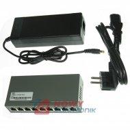 Switch PoE 9wejśc 8xPoE   do kamer IP