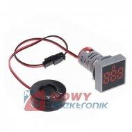 Kontrolka LED amperomierz czerwo kwadrat 100A, zasilanie 50-380VAC