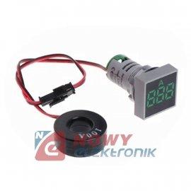 Kontrolka LED amperomierz zielon kwadrat 100A, zasilanie 50-380VAC