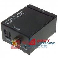 Konwerter sygnału audio A/C RCAx2--SPDIF Toslink+Coaxial