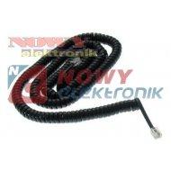Kabel telef. spiralny 15m czarny