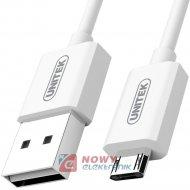 Kabel USB - micro USB 2.0 1m Y-C4035WH Biały REVERSIBLE