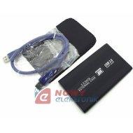 Obudowa HDD 2,5 SATA USB3.0 srebrna kieszeń dysku zewn.