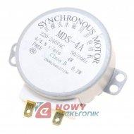 Silnik mikrofalówki MDS-4A 230VAC 50/60Hz 4/4.8rpm z przekł