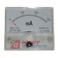 Miernik analog.amper. 0.3A+bocz. kwadratowy, amperomierz 300mA