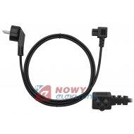 Kabel zasil. laptop 1,5m 230V kątowy (koniczynka do zasilaczy)