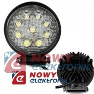 Lampa LED halogen 9x3W 09-60V IP68 reflektor led car okrągły