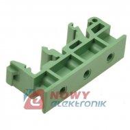 Uchwyt mocujący na szynie TS35 DIN, zielony Dinkle, 10mm