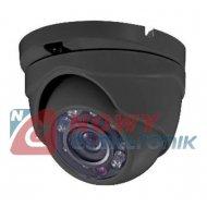 Kamera HD-UNI.NE-202 2MPX IR 2,8mm kopułka Szara TVI/AHD/CVI/CVBS