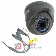 Kamera HD-UNI.NE-402 2MPX 2,8-12mm Kopułka Szara TVI/AHD/CVI/CVBS.