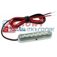 Lampa LED SMK-6SMD W 12V biała 24x10x8mm lampka