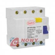 Wyłącznik 4P 16A/30mA różnicowo -prądowy różnicówka DLF364-63 ZeXt
