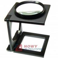 Lupa 3x składana 75mm szkło powiększajace