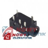 Gniazdo JACK 3.5mm 4-polowe mon. 4-pin VITALCO  lutowane druk