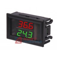 """Moduł termometr podwójny  W1230 0,28"""" miernik czerwono zielony"""