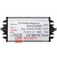 Zasilacz ZI LED 12V/4,17A IP67 zminiaturyzowany wodoodporny 50W