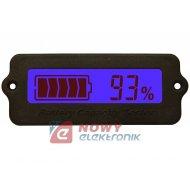 Miernik akumulatora 8-63VDC NIE niebieski E16 z360 RY7tester