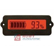 Miernik akumulatora 8-63VDC CZE czerwony E15 z360 RY7 tester