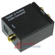 Konwerter sygnału audio C/A NEPOWER SPDIF Toslink+Coaxial--RCAx2
