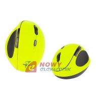 Mysz BLOW bezp. MB-50 limonkowa bezprzewodowa USB Bluetooth