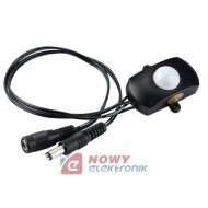 Czujnik ruchu MINI PIR 5-24V 5A 10s - 5min , do LED  (12V)
