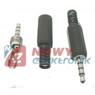 Wtyk JACK 3,5mm 4*POL plastik 4-pin