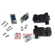 Gniazdo D-SUB 9 pin + obudowa czarna na kabel / zestaw DB9 RS232
