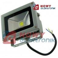 Halogen LED 10W GREY WZ zimny Biały reflektor/naświetlacz